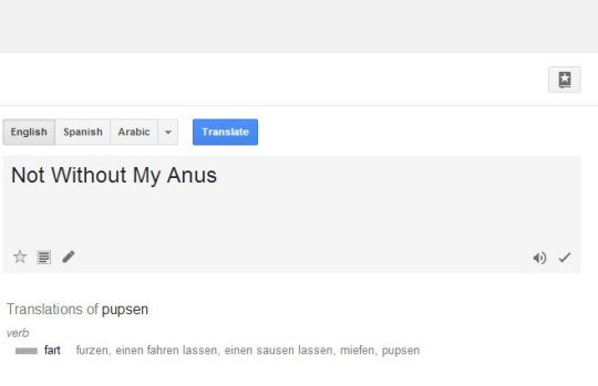 When you type 'Pupse' into Google Translate you get a rude