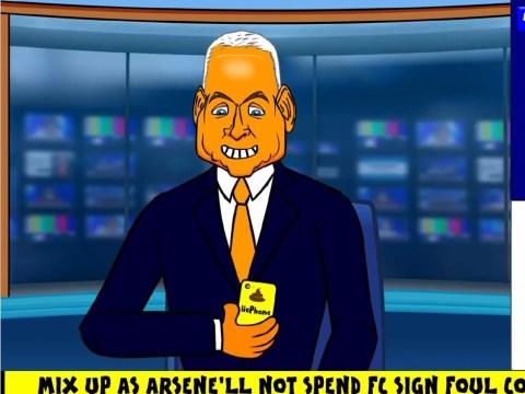 Sky Sports presenter Jim White mocked in transfer deadline day parody cartoon