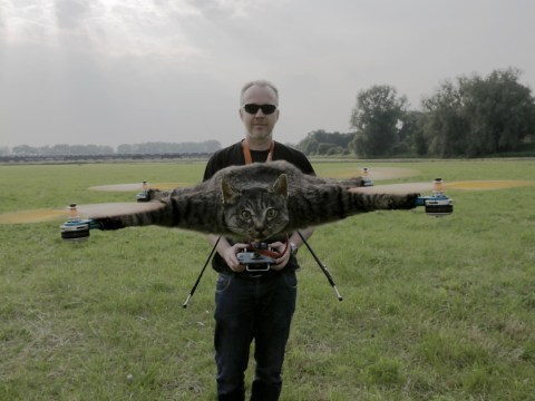 Dutch artist turns his dead cat into a radio controlled helicopter