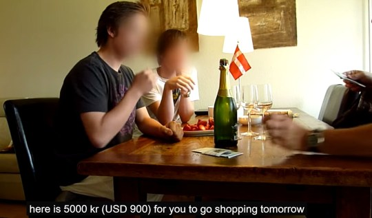 It begins with a little bit of cash so they boys can treat themselves... (Picture: YouTube)
