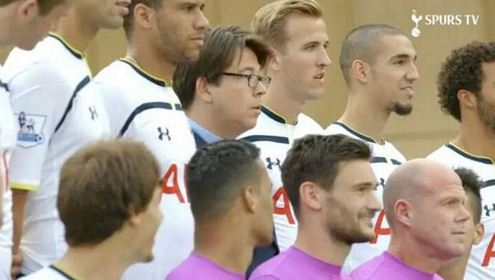 Tottenham fan and comedian Michael McIntyre gatecrashes official squad photoshoot