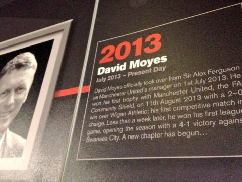David Moyes is still Manchester United boss – according to their official museum