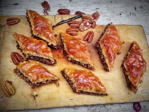 Great British Bake Off recipe: Boozy coffee, maple and pecan baklava