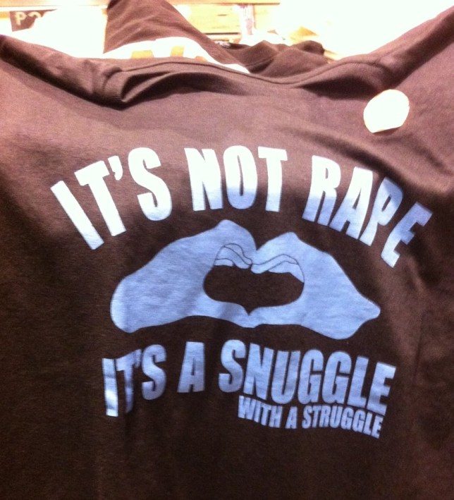 The offensive shirt was only sale in the boys section of a popular department store (Picture: Karen Kunawicz/Facebook)