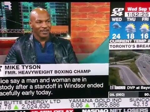 Mike Tyson loses it on live TV after interviewer brings up rape charge