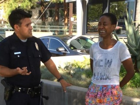 Black actress arrested kissing white husband after police think she's a prostitute