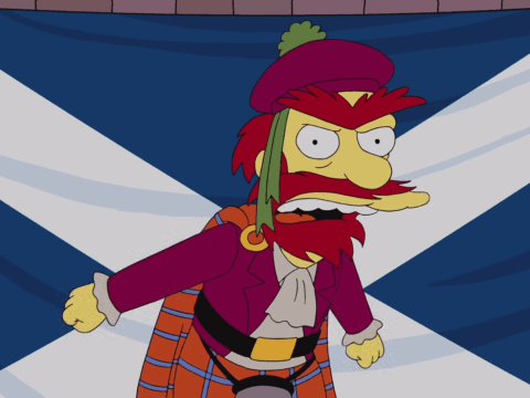 The Simpsons' Groundskeeper Willie gets animated over Scottish independence