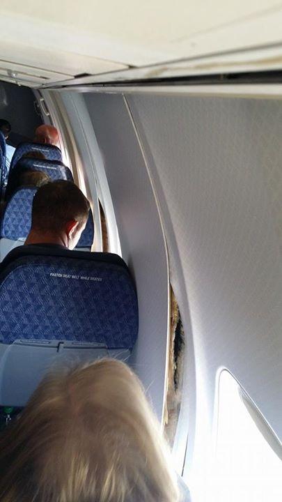Flight makes emergency landing after cabin walls begin to crack