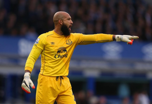 reputable site 42ff8 0afdd How Tim Howard has given Everton an unusual cause for ...