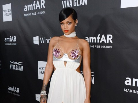 Rihanna wears daring topless Tom Ford dress, kills it