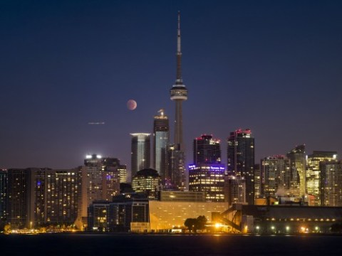 Total lunar blood moon eclipse across the globe in pictures