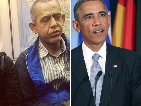 Has Barack Obama really aged this much or has he travelled back from the future?