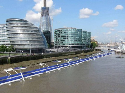 Plans unveilled for £600m floating cycle path along the Thames
