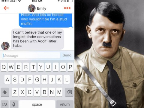 Someone made a Hitler Tinder profile and girls are talking to him