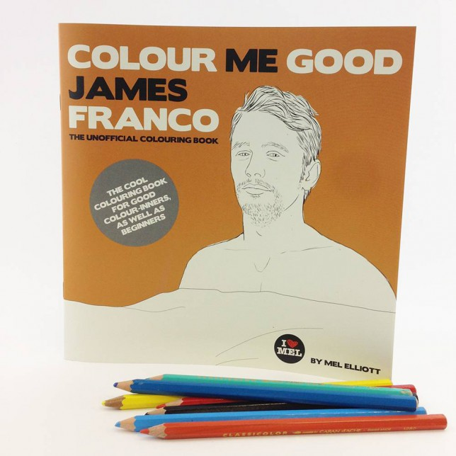 Crayons at the ready as James Franco becomes the star of his own colouring book