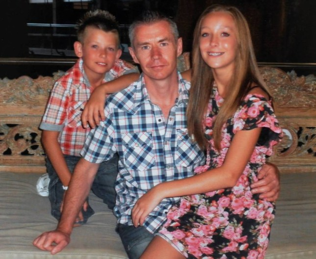 Collecrt picture shows David Mallaby who died from bowel cancer after doctors failed to spot his condition for seven years. David Mallaby tribute.  Pictured with his children Olly Mallaby and Lucy Mallaby.See Ross Parry copy RPYBOWEL :  The family of a dad who died from bowel cancer have won a six-figure payout after a GP failed to diagnose him - for SEVEN years.  Dad-of-two David Mallaby died in 2012 after first visiting his doctor seven years earlier complaining of symptoms which might have been bowel cancer.  But despite Mr Mallaby telling his GP that his father had been diagnosed with bowel cancer aged 45 - he was not referred for further investigation.  Now the family have won a six-figure compensation payout over his 'needless death' from cancer.  The 44-year-old left behind wife Joanne and children, Oliver and Lucy - who sued his GP for negligence.