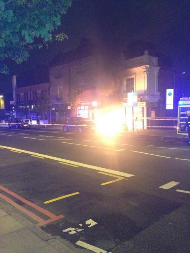 Holloway Road, manhole explosion