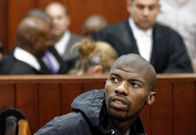 epa04452582 (FILE) A file photograph showing South African Xolile Mngeni appearing in Cape Town High Court for his trial, South Africa, 10 February 2012. Media reports on 18 October 2014 state that Xolile Mngeni who was jailed for the murder of Swedish national of Indian origin, Anni Dewani, has died in a South Afirican prison.  EPA/NIC BOTHMA