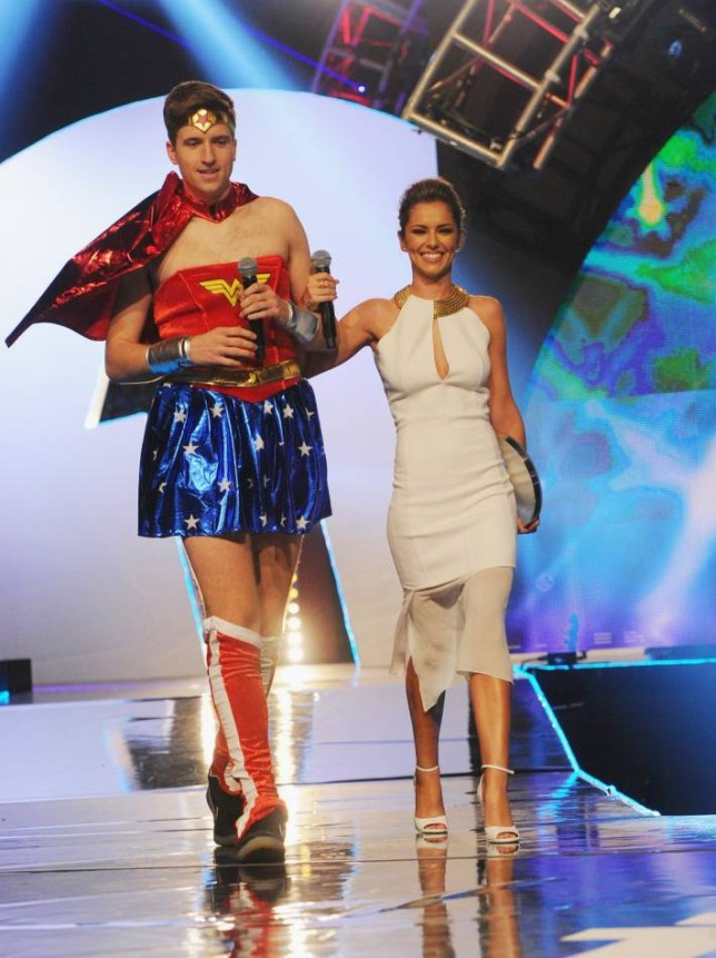 Greg James and Cheryl Fernandez-Versini at the Radio One Teen Awards at Wembley Arena on October 19, 2014 in London, England.  (Photo by Eamonn M. McCormack/Getty Images)