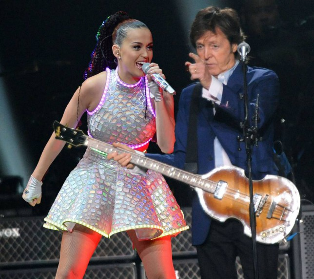ATLANTA, GA - OCTOBER 15:  Paul McCartney performs at Philips Arena on October 15, 2014 in Atlanta, Georgia.  (Photo by Chris McKay/Getty Images)