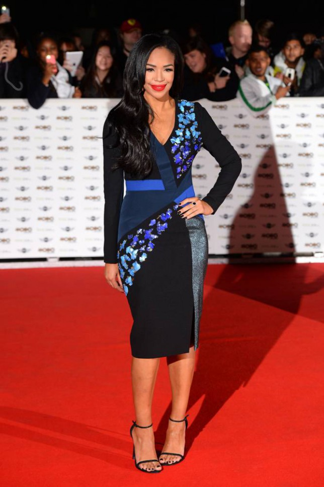 Sarah Jane Crawford arriving at the Mobo Awards 2014 held at the SSE Arena in Wembley, London. PRESS ASSOCIATION Photo. Picture date: Wednesday October 22, 2014. Photo credit should read: Dominic Lipinski/PA Wire