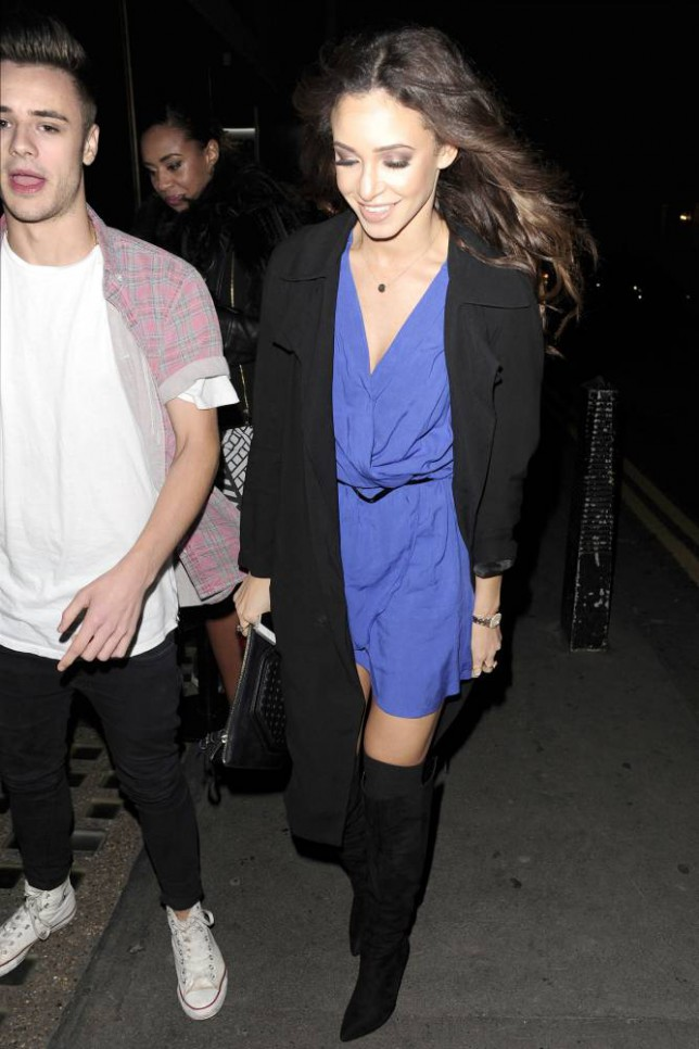 Casey Johnson and Danielle Peazer (Picture: Xposurephotos.com)