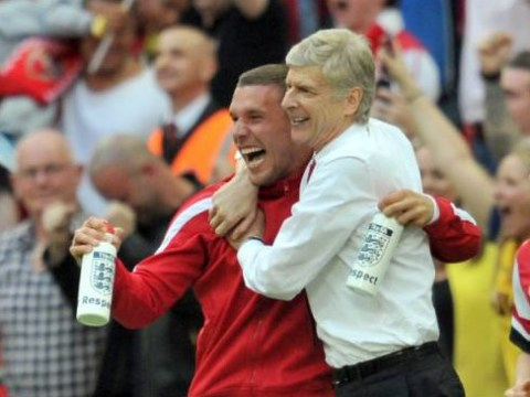 Arsene Wenger basically confirms Lukas Podolski is staying at Arsenal after his Anderlecht heroics