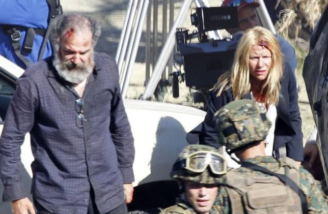 Mandy Patinkin and Claire Danes  'Homeland' TV series on set filming, Cape Town, South Africa