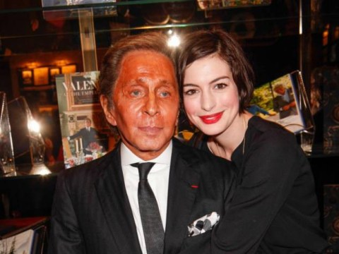 Er, Valentino might just have overdone it with the fake tan…