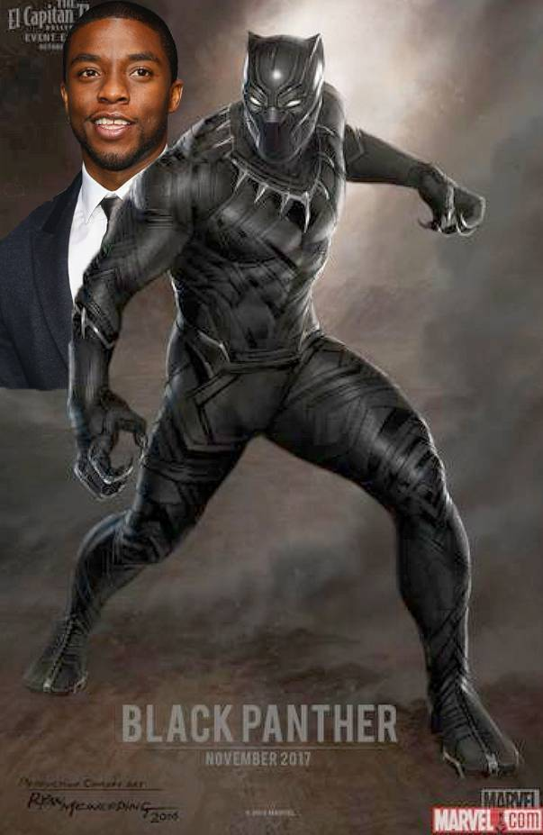 Chadwick Boseman will play the Black Panther  in Marvel's forthcoming film