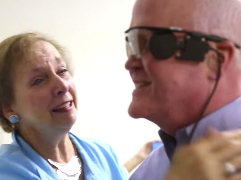 Watch incredible moment blind man sees again after 33 years