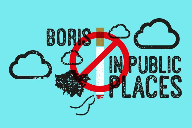 Smoking could be banned outdoors in the capital after London Mayor Boris Johnson commissioned a report into the idea (Illustration: Stone Creative Design)