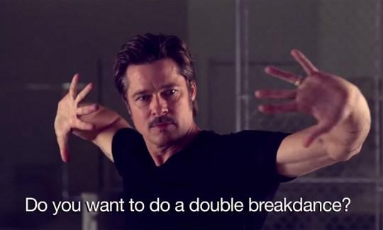 Brad Pitt breakdances on The Tonight Show