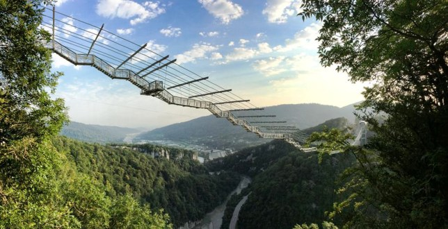 SkyBridge, Suspension bridge, Russian bridge, Scary bridges in the world, Longest bridge in the world, Highest bridge in the world, Bungee jumping, Zip lines, SkyPark AJ Hackett