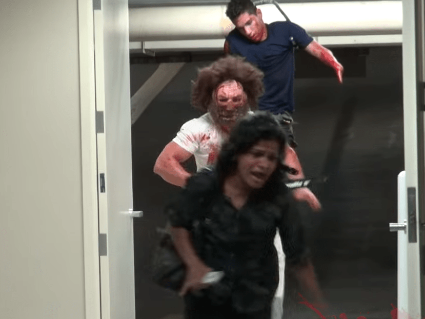 Chainsaw massacre prank is a real scream