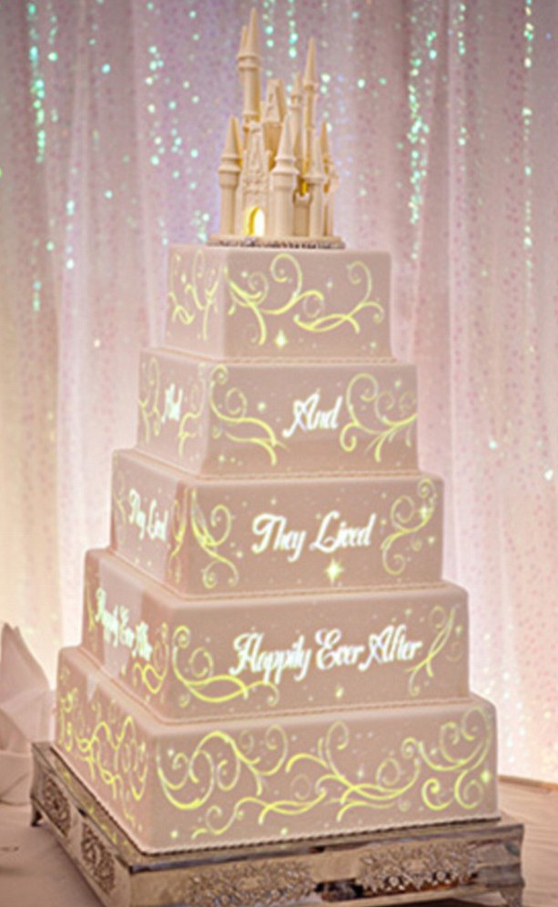 These Disney fairytale wedding cakes come with their own