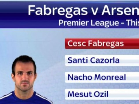Cesc Fabregas assist stats show he's more creative than the entire Arsenal team