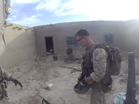 Watch marine take sniper shot to the head and live