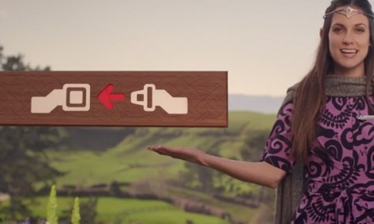 Hobbit Air New Zealand safety video