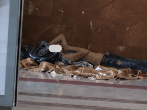 Homeless woman ordered by court to sleep in train station