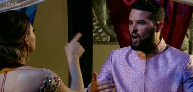 TOWIE 2014 Jess and Ricky argue (Picture: ITVBe)