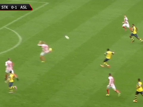 Ainsley Maitland-Niles scores classic Fifa finesse goal for Arsenal U21s against Stoke City