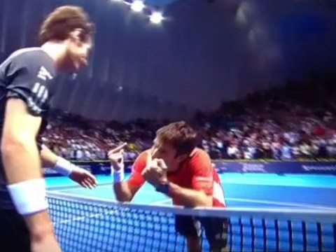 Tommy Robredo produced this brilliant reaction after squandering five match points against Andy Murray in the Valencia Open final