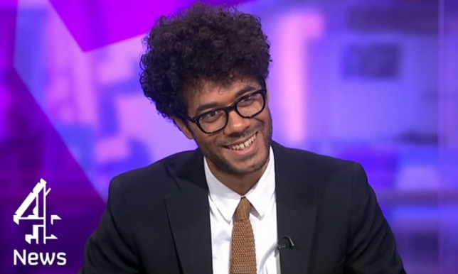 'Don't thank me…I've done nothing for you': The IT Crowd's Richard Ayoade gives spectactularly awkward C4 News interview