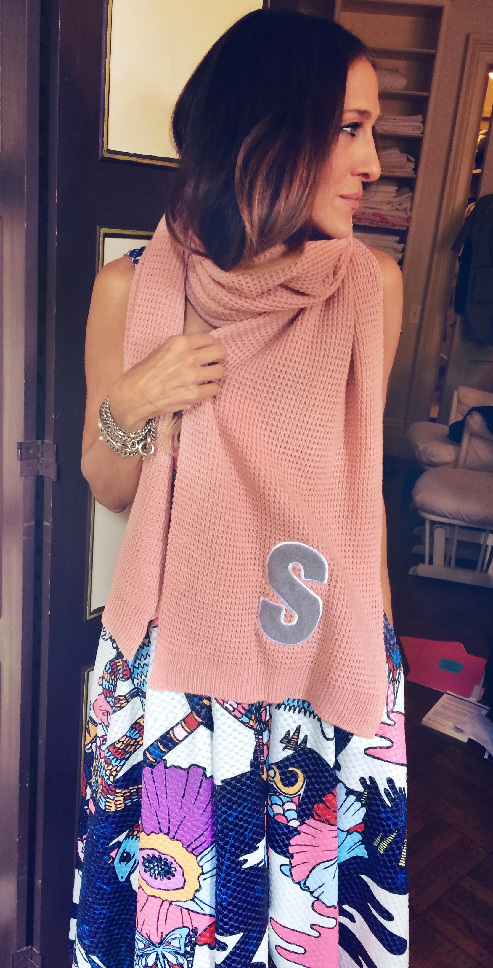 Matalan alphabet scarf, Matalan scarf, Scarf, Winter accessories, Cheap scarf, Charity gift, Alder Hay Children's hospital, Sarah Jessica Parker, SJP