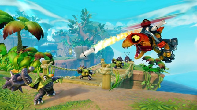 Skylanders: Trap Team (PS4) - you can't go entirely wrong with helicopter dinosaurs