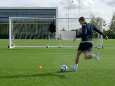 Jan Vertonghen nearly outdoes Erik Lamela with rabona trickshot in Spurs training session
