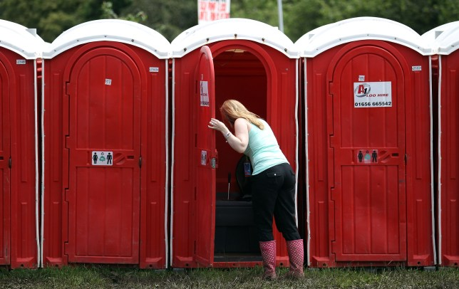 The infamous Glastonbury toilets (pic: Matt Cardy/Getty Images)