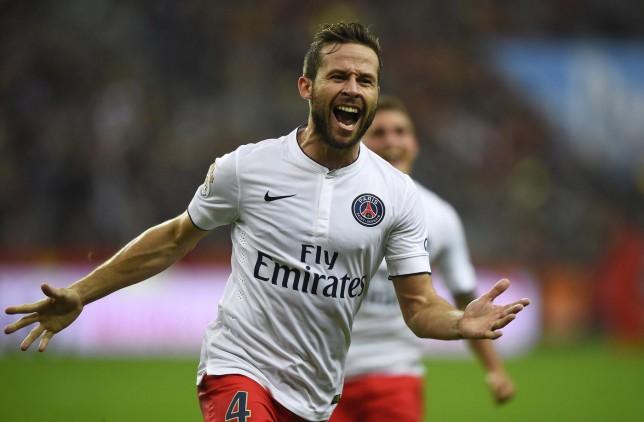 Arsenal and Liverpool transfer target Yohan Cabaye ready to quit Paris Saint-Germain