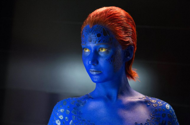 """This photo released by Twentieth Century Fox shows Jennifer Lawrence as Mystique in Twentieth Century Fox and Marvel's """"X-Men: Days of Future Past."""" (AP Photo/Twentieth Century Fox/Marvel, Alan Markfield) AP Photo/Twentieth Century Fox/Marvel, Alan Markfield"""